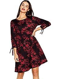 0d9db88a542ec Debenhams The Collection Womens Black Floral Print Plus Size Swing Dress