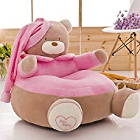 MeMoreCool aggiornamento Cartoon orso dei bambini morbido divano, sedia sfoderabile, per Natale/bambini giorno regalo, Giallo, Cotone, Pink, 20
