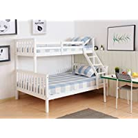 WestWood NEW Detachable Bunk Beds | Single Top Double base bed | Solid Wood Frame |Children