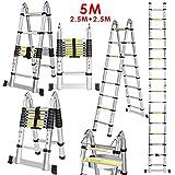 Coocheer Aluleiter Teleskopleiter Multifunktionsleiter verwendbar als Anlege-...