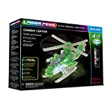 Laser Pegs 41012 Combat Copter 4-in-1 Building Set, Multicoloured