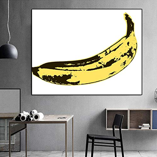 Wangpdp Andy Warhol Pop Art Canvas Banana Print Posters