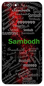 Sambodh (Complete Knowledge,Wise Prudent) Name & Sign Printed All over customize & Personalized!! Protective back cover for your Smart Phone : Apple iPhone 6-Plus
