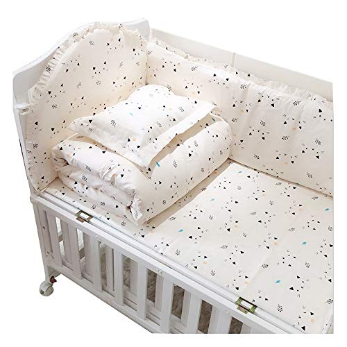 Crib bumper cotton removable and washable breathable bed surrounding baby bedding package anti-collision 4 piece set 110 * 60 B