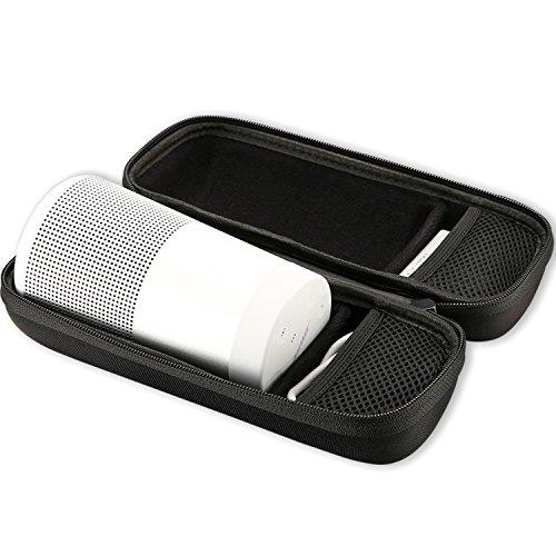 ProCase Bose SoundLink Revolve Custodia, borsa da viaggio portatile Hard EVA Custodia Protezione Shell Protezione per Bose SoundLink Revolve Altoparlante, Caricatore da parete e cavo USB -Nero