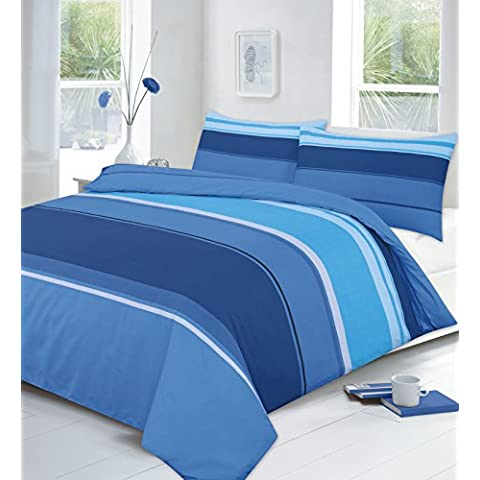 SPLENDID LATEST COLLECTION DUVET QUILT COVER WITH PILLOW CASES BEDDING SETS ALL SIZES (King, Carter Blue) by clicktostyle