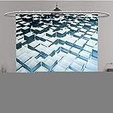 Duschvorhang 296255216ein Bild von A Nice Abstrakt Glas Cubes Polyester-Hintergrund-Bad Vorhang