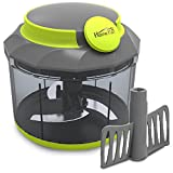 #9: Home Puff Vegetable Chopper, Steel 3 Blade + Whipping Blade, Green (1000 ML)