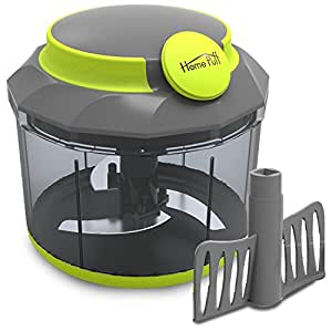 Home Puff HP-BIG-CHPR Vegetable Chopper with Steel 3 Blade and Whipping Blade, Green