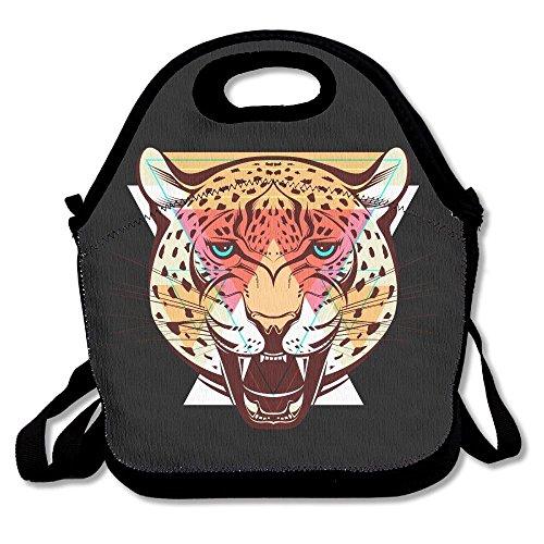 Riutilizzabile lunch bag tote soft cooler carry bag per donne, ragazze leopardo
