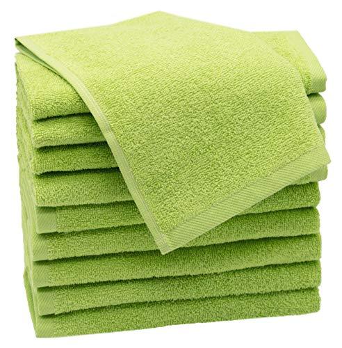 ZOLLNER 10 Asciugamani per Gli Ospiti Verde Mela 30x50 Altri Colori