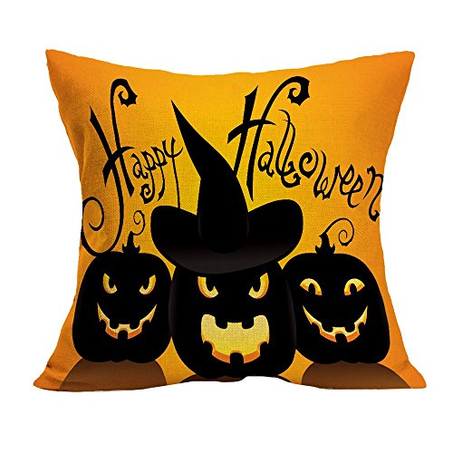 ween Home Cinema Kissenbezug Sofa Taille Wurf Kissenbezug Kürbis Ghosts Decor Ornamente ()