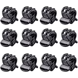 TRIXES 12Pc Stylish Mini Black Hair Claws Clips Pins Clamps