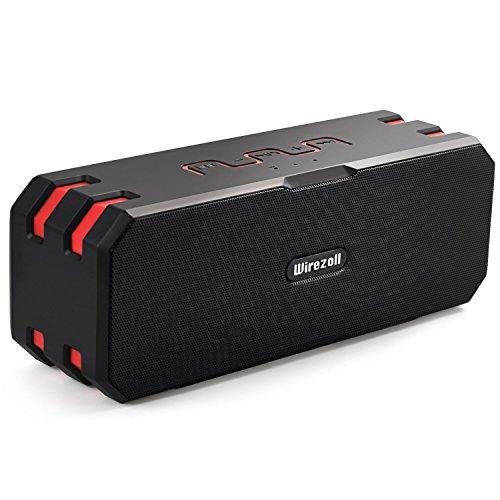Altoparlante Bluetooth Wirezoll 20W Stereo Portatile Cassa con Supporto per Bici, 15 Ore di Riproduzione, Nero / IP67 Impermeabile / Microfono Incorporato / Scheda TF Supporto - Aggiornato Versione