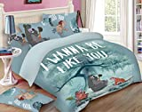 Uber Urban Jungle Book 144 TC Cotton double Bedsheet and 2 Pillow Covers - Abstract, Multicolour