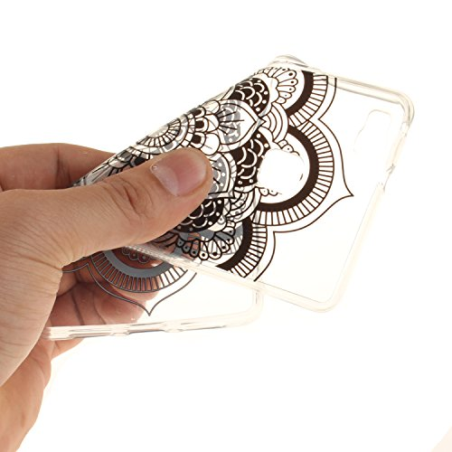 Voguecase® für Apple iPhone 7 Plus 5.5 hülle, Schutzhülle / Case / Cover / Hülle / TPU Gel Skin (Pflaumen 16) + Gratis Universal Eingabestift Lace Teppich/Schwarz