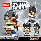 CuteDoll Figura de Vegeta Dragonball Dragon Ball Puzzle Juego Bloques de construccion tamaño 9 cm...