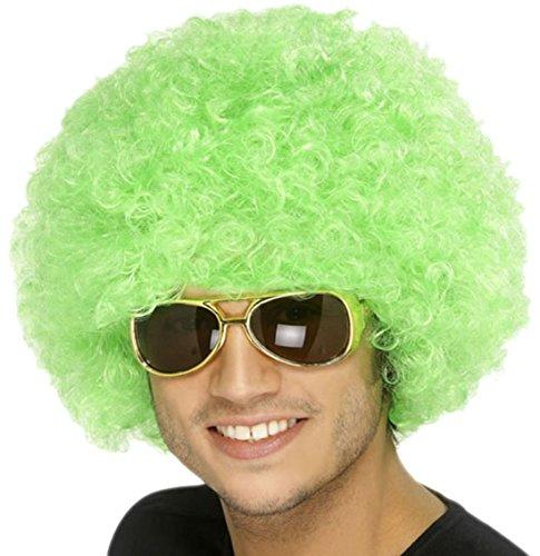 Halloweenia - Erwachsene Afro Dauerwellen- Perücke Hippie, Grün