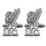 Liverpool FC officiel - Boutons de manchette - thème football - chromé/élégant - Argenté
