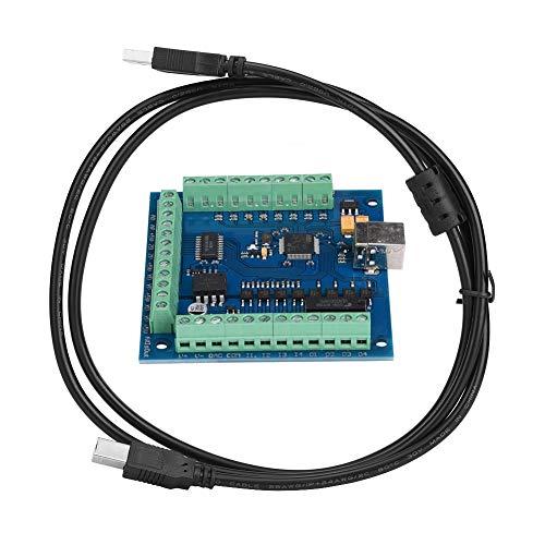 CNC-Steuerplatine mit USB-Kabel, MACH3-USB-4-Achsen-100-kHz-Karten-Breakout-Board zum Gravieren