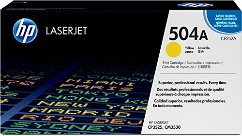 HP 504A (CE252A) Gelb Original Toner fürHP Color Laserjet CP3525, HP Color Laserjet CM3530 (Ce252a Hp)