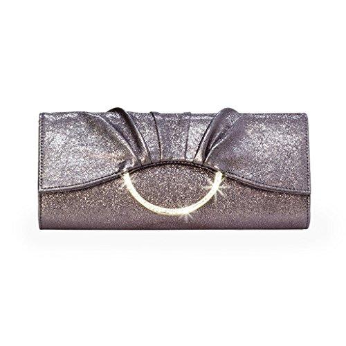 Frizione borsa da donna del pacchetto afflusso di donne del messaggero della borsa della borsa banchetto falso / finto / borsa da sera in pelle artificiale versione coreana ( Colore : Classic Black ) Bronzo