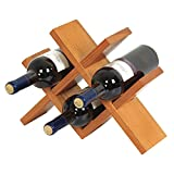 Espositore per vino in legno 4 Espositori porta bottiglie a forma di diamante