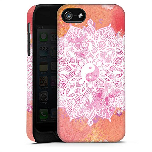 Apple iPhone X Silikon Hülle Case Schutzhülle Mandala Yin Yang Sommer Tough Case matt