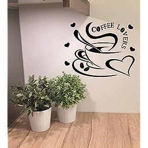 """*NEU* Wandaufkleber Wandtattoo Wandsticker für die Küche/Esszimmer""""Kaffee Liebe"""" (Größen.- und Farbauswahl)"""