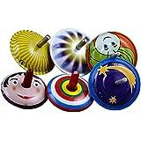 Juguetes de hojalata antiguos coleccionables Metal Spinning truco juego superior 6