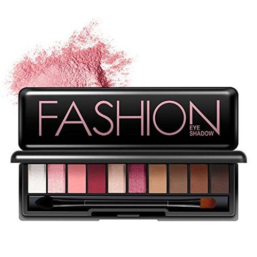 zahuihuiM, Poudre cosmétique 10 couleurs Ensemble de maquillage de la palette de paupières Smoky Disponible (B)