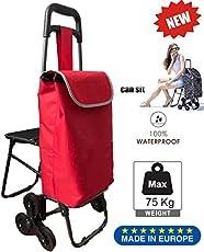 Tavalax® Tris Floral Einkaufstrolley & Trolley Gestell Stahl klappbar & Wasserdicht Climb Cart