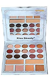 Kiss Beauty 21 Color Eyeshadow and Highlighter Palette (87067-02)