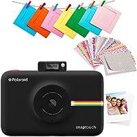 Polaroid SNAP Touch 2.0: cámara digital portátil instantánea de 13 megapíxeles con Bluetooth incorporado, pantalla táctil LCD, vídeo 1080 p, tecnología ZINK de cero tinta y nueva aplicación. Imprime copias adhesivas de 2x3 in. Negro