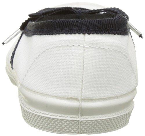 Bensimon Tennis Babies Gros Grain, Baskets Basses Fille Blanc (Blanc)