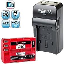 Baxxtar RAZER 600 II cargador 5en1 + 1x Baxxtar batería para Nikon EN-EL3e (real 2000mAh) NUEVO con entrada micro-USB y salida USB, para simultaneo cargando un dispositivo de terceros (Smartphone...)!