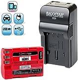 Baxxtar RAZER 600 II Ladegerät 5 in 1 + 1x Baxxtar Akku für Nikon EN-EL3e (echte 2000mAh) für -- Nikon D50 D70 D70s D80 D90 D100 D200 D300 D300S D700 -- NEUHEIT mit Micro-USB Eingang und USB-Ausgang, zum gleichzeitigen Laden eines Drittgerätes (GoPro, iPhone, Tablet, Smartphone..usw.) !!