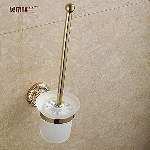 Latón sólido estilo europeo wc Brush set Brush set baño aseo portacepillos vaso