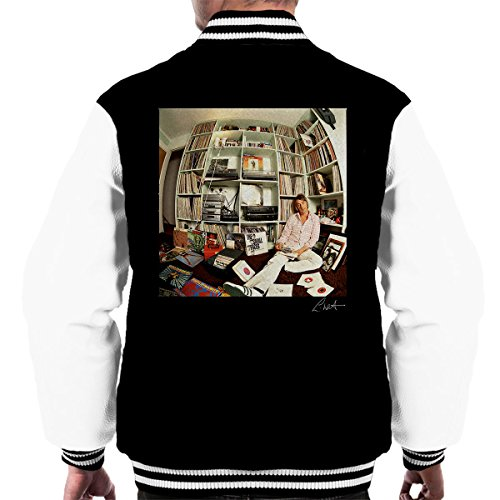 Lawrence Watson Official Photography - Paul Weller With Record Collection Men's Varsity Jacket