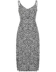 Vestido Largo Boho con Estampado de Leopardo para Mujer Vestido de Verano Vestido Maxi