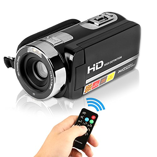 Webat WB301 HD 1080p Camcorder 24.0 Mega Pixel 16X Option Zoom 2.7 TFT LCD Rotation Touchscreen HDV Video Camcorder mit IR Nachtsicht