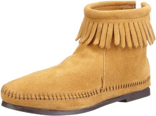 Minnetonka Back Zipper Boot 287, Damen Stiefel, Beige (Tan), EU 36 (US 5) -