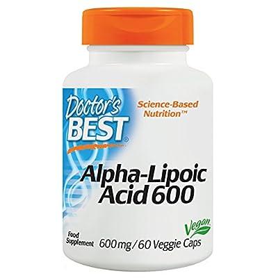 Doctor's Best, Best Alpha-Lipoic Acid (Alpha-Liponsaeure), Die Nummer 1 im Gewichtsmanagement - Nahrungsergaenzungsmittel  600mg. 60 Veg. Kapseln.