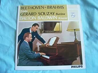AL 3422 GERARD SOUZAY Beethoven/Brahms Lieder LP
