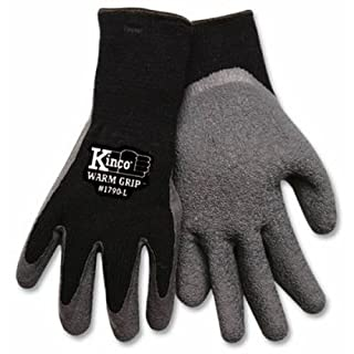 KINCO 1790-XL Men's Warm Grip Thermal Lined Latex Coated Gloves, X-Large, Black/Gray by KINCO INTERNATIONAL