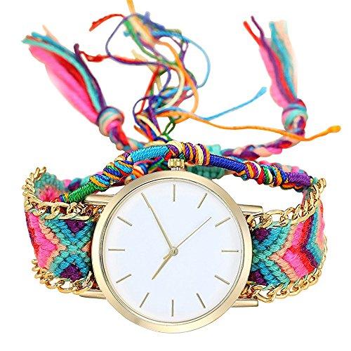 Yivise Relojes Mujer Hecho a Mano Clásico Vintage Estilo Étnico Relo