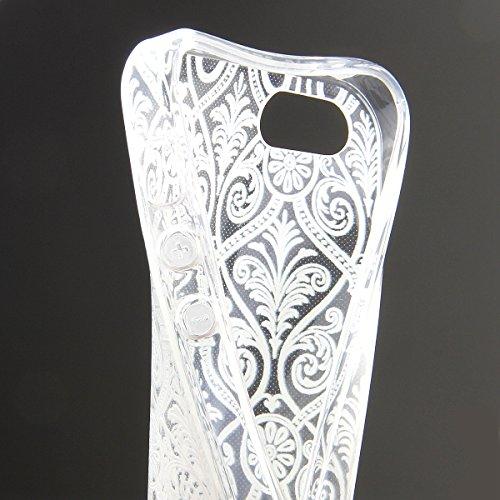 iPhone 4S Hülle, iPhone 4 Hülle, iPhone 4 / 4S Silikon Crystal Case Hülle mit Malerei Muster, SainCat Weiche Transparent Silikon Schutzhülle Hülle Gel Bumper Soft TPU Case Backcase Weiches Crystal Cle europäischen Stil