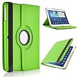 Samsung Galaxy Tab 425,7cm (SM-T530/sm-535) Hohe Qualität PU-Leder 360Grad Drehbar Smart-Drehgelenk Funktion, Multi Winkel Flip Ständer Sicherheit Schutzhülle Grün