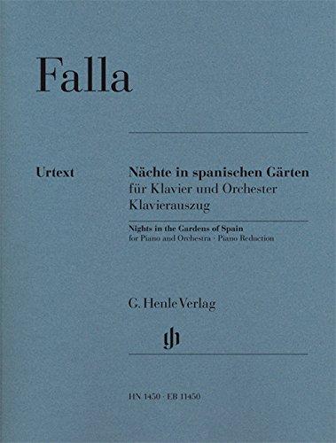 Nächte in spanischen Gärten für Klavier und Orchester; Klavierauszug