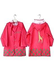 GIM Kinder Regenmantel Wasserdicht Regenponcho Regenjacke Regenwetter Schutz für Mädchen & Jungen Unisex 3-12 Jahre